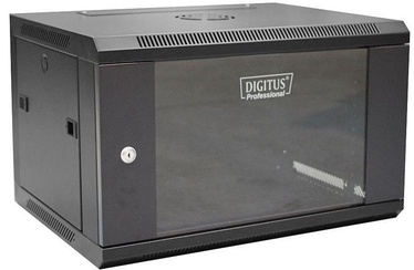 "Digitus Wallmount Cabinet 19"" 6U/450mm Black Unmounted"