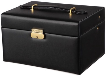 Songmics Jewelry Box Black 22.5x17x13.5cm