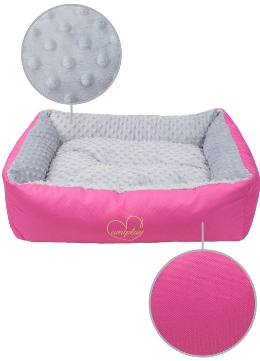Лежанка Amiplay Babydoll Sofa M 68x56x18cm Light Gray
