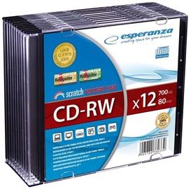 Esperanza 2070 CD-RW 12x 700MB Slim Jewel Case 10pcs