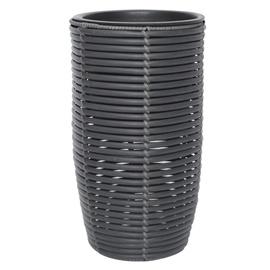 Home4you Wicker Flowerpot D30x60cm Dark Grey