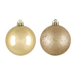 Jõulupuu ehe Gold/Cream, 60 mm, 20 tk