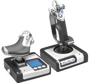 Джойстик Logitech Saitek X52 Flight Control System