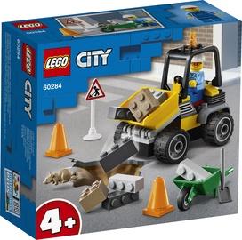 Konstruktorius LEGO City kelio darbų traktorius 60284