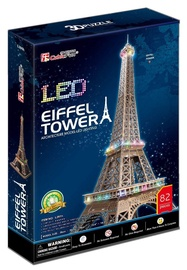 3D dėlionė Cubicfun Eiffel Tower LED 3D, 82 dalių