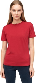Audimas Womens Stretch Cotton T-shirt Rio Red XS