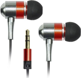 Ausinės Vakoss Metal Stereo Earphones Red