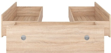 Black Red White Nepo LOZ3S Set Of Bed Drawers Sanoma Oak