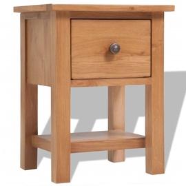 Ночной столик VLX Solid Oak Wood, коричневый, 36x30x47 см