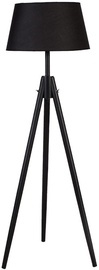 Home4you Ringo Wood Floor Lamp Black