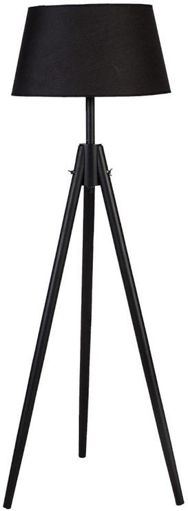 Home4you Ringo Wood Floor Lamp Black