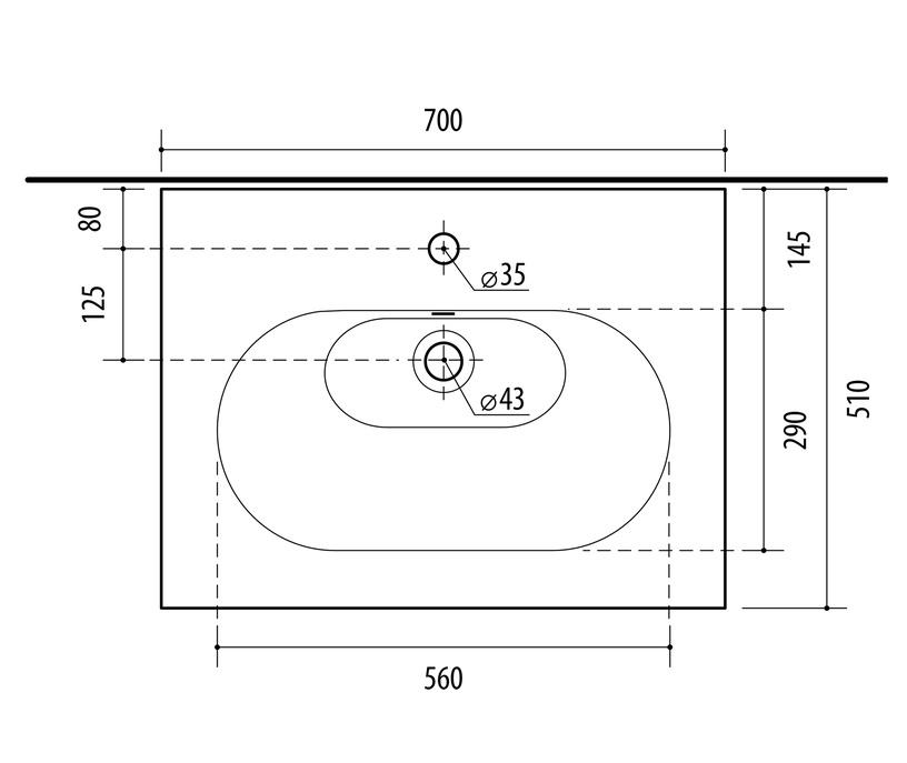 Vonios spintelė su praustuvu Riva SA70C-1 Sonoma Oak
