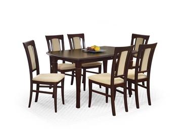 Pusdienu galds Halmar Fryderyk Dark Walnut, 1600 - 2000x800x740 mm