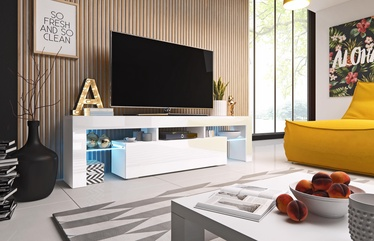 Cama Meble Toro 158 TV Stand White/White Gloss