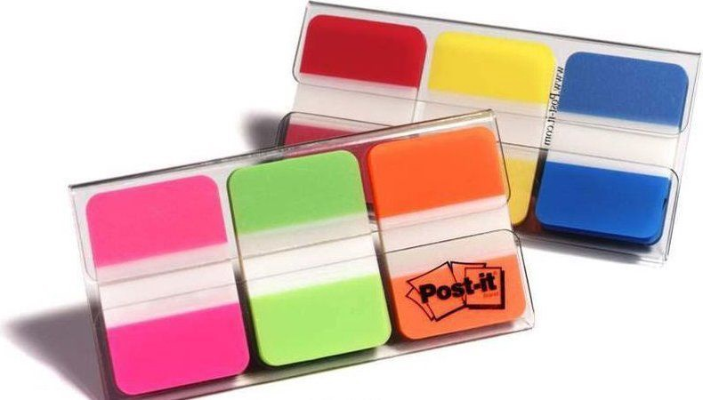 3M Post It Index Strong Filing Tab Assorted Colours 3x22pcs