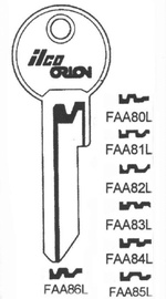Raktų ruošinys Jma FAA8Ll, FB13, 1 vnt