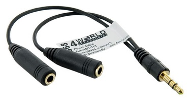4World Audio Adapter Mini Jack 3.5 to Mini Jack 3.5 x 2