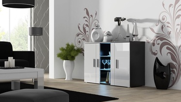 Комод Cama Meble Soho S7 120, белый/черный, 120x41x80 см