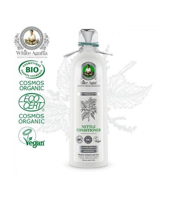 White Agafia Organic Hair Balm Nettle Softness And Glow 280ml