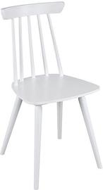 Ēdamistabas krēsls Black Red White Patychaki White, 1 gab.