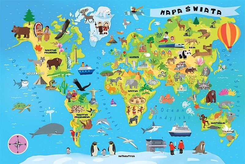 A Picture Of The World Map.Trefl World Map 100pcs 15502