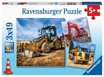 Puzle Ravensburger Digger At Work 05032, 3x49 gab.