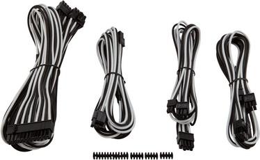 Corsair Premium Individually Sleeved PSU Cable Kit Starter Package Type 4 (Gen 3) White/Black