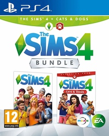 Sims 4 Plus Cats and Dogs Bundle PS4