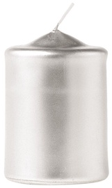 Eika Pillar Candle 7x5cm Silver