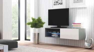 Pakabinama spintelė Livo RTV 120W pilka / balta, 120 x 40 x 30 cm