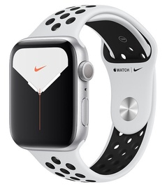 Apple Watch Nike Series 5 44mm GPS Silver Aluminum Case with Platinum Black Band