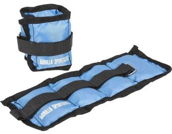 Gorilla Sports Wrist/Ankle Weights 2x0.5kg Blue