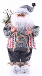 DecoKing Christmas Decoration Santa Claus Red/Grey 46 cm