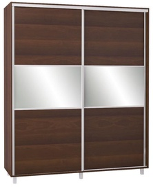 Bodzio SZP200W Sliding Wardrobe w/ Mirror 200x240cm Walnut