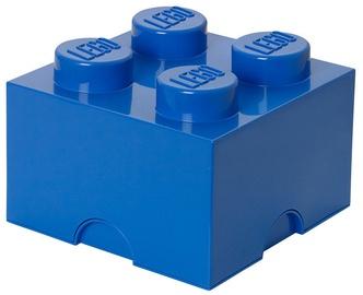 LEGO Storage Brick 4 Knobs Medium Blue