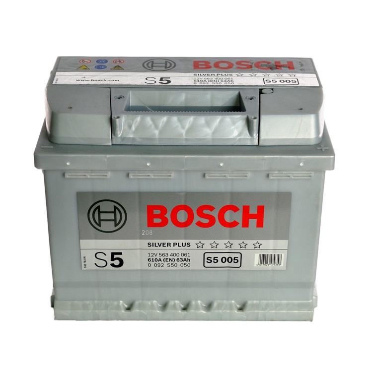 Akumulators Bosch S5, 12 V, 63 Ah, 610 A