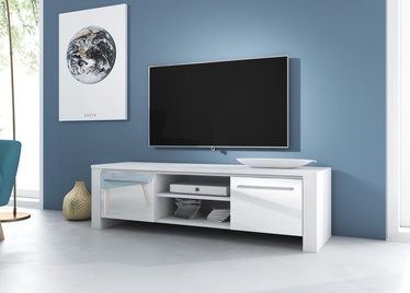 TV galds Vivaldi Meble Manhattan, balta, 1400x422x400 mm
