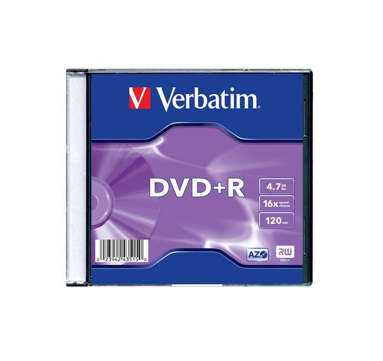 Kompaktinis diskas DVD+R Verbatim, 4,7 GB