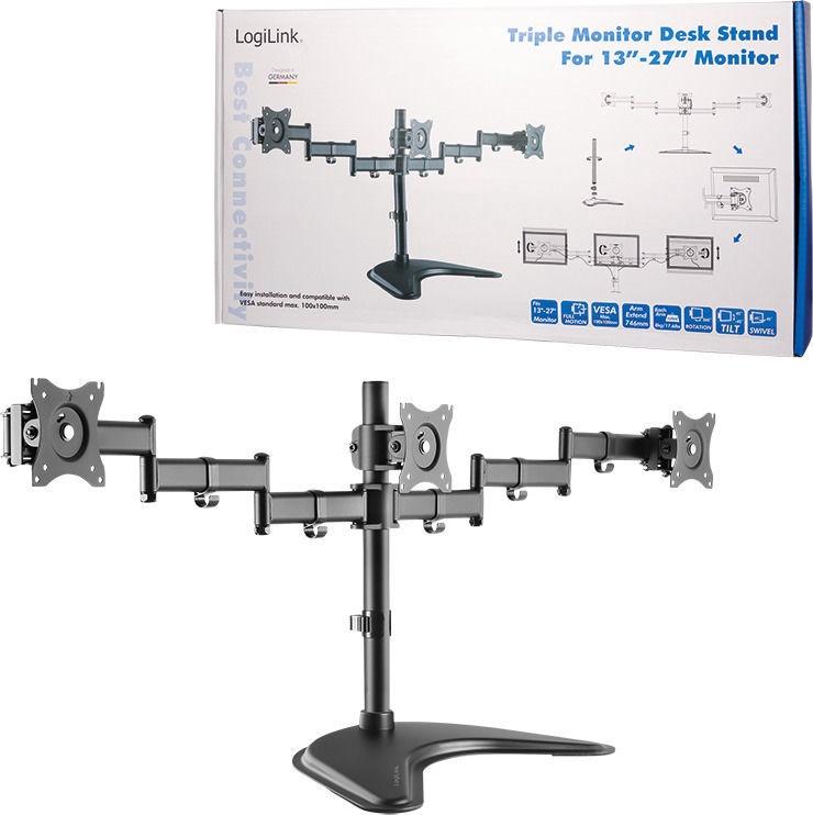 "LogiLink Triple Monitor Stand 13-27"" BP0051"