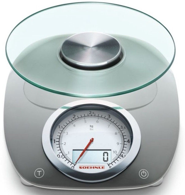 Soehnle Electronic Kitchen Scales Vintage Style Grey