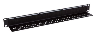 Linkbasic Brush Panel With Cable Organizer 1U for 19'' Rack Cabinets