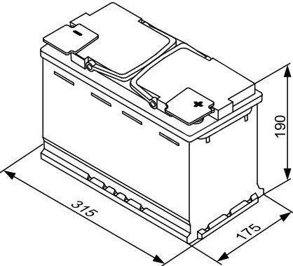 Аккумулятор Bosch AGM S5 A11, 12 В, 80 Ач, 800 а