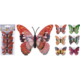 Средство декорирования Butterflies With Clip 7x5.5cm 4pcs