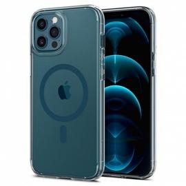 Чехол Spigen Ultra Hybrid Mag Magsafe for iPhone 12 Pro Max, прозрачный/синий