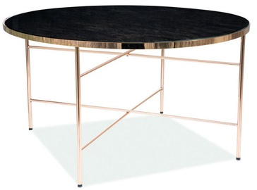 Kavos staliukas Signal Meble Ibiza B Marble/Gold, 800x800x450 mm