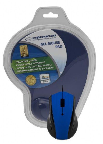 Kompiuterio pelė Esperanza EM125 Blue, laidinė, optinė