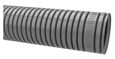 Gofruotas instaliacinis vamzdis RKGL 16, PVC, pilkas, be vielos, 50 m