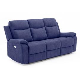 Home4you Milo 3 Seat Recliner Sofa Blue