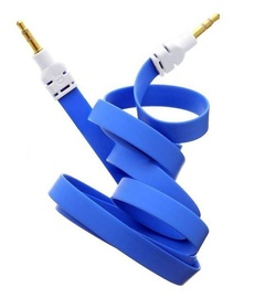 Mocco Flat Premium 3.5mm To 3.5mm AUX Cable 90cm Blue