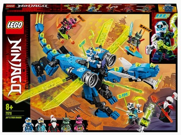 Конструктор LEGO® Ninjago Кибердракон Джея 71711, 518 шт.